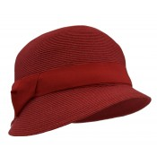 Small brim hat - Cloche - red